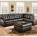 Simmons Upholstery 9590 Tufted Sectional Sofa - Ottoman Not Included