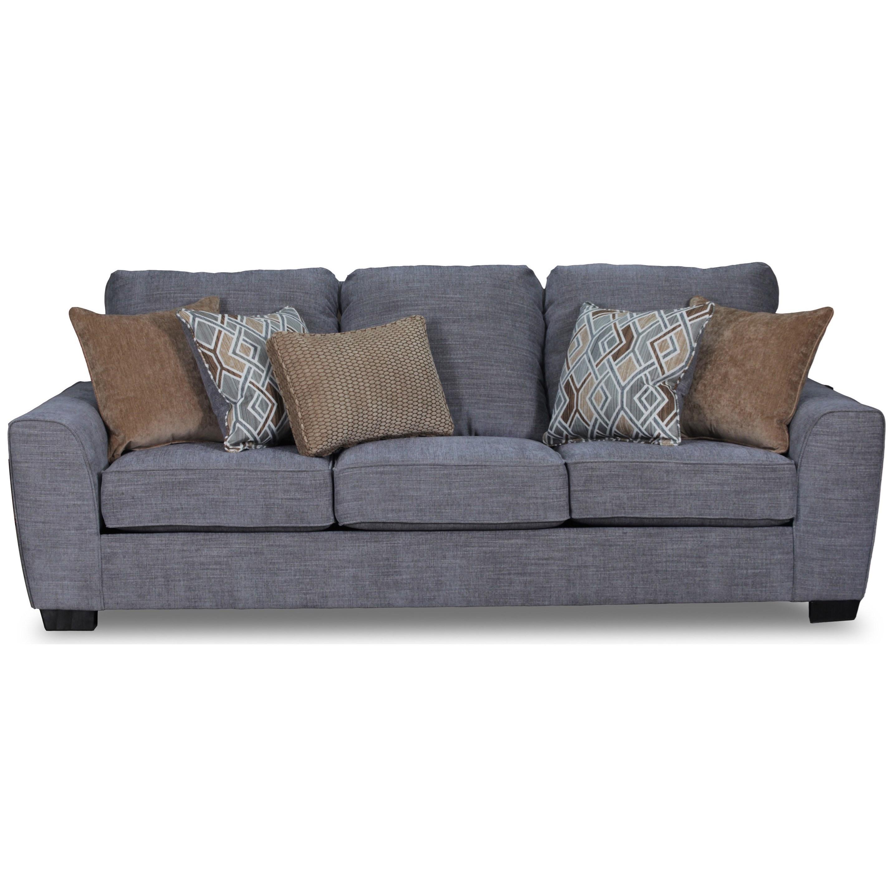United Furniture Industries 9770BR Sofa - Item Number: 9770BRSofa-Pompeii Silver