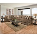 United Furniture Industries 9906 Sectional - Item Number: 9906BR-LAFLS+W+ALLS+RAFCH-Cocoa