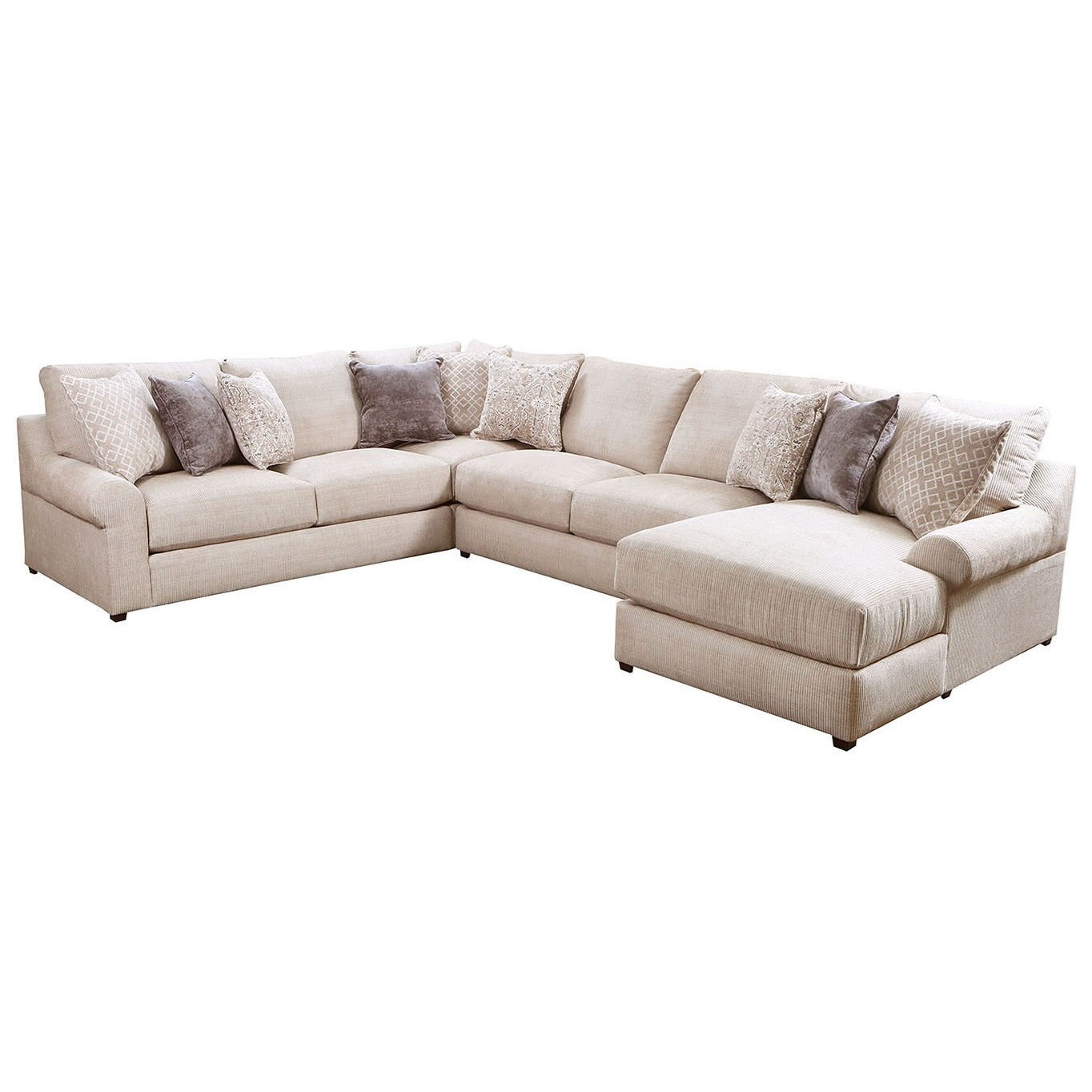 9906 4-Piece Sectional by Simmons Upholstery at Dunk & Bright Furniture