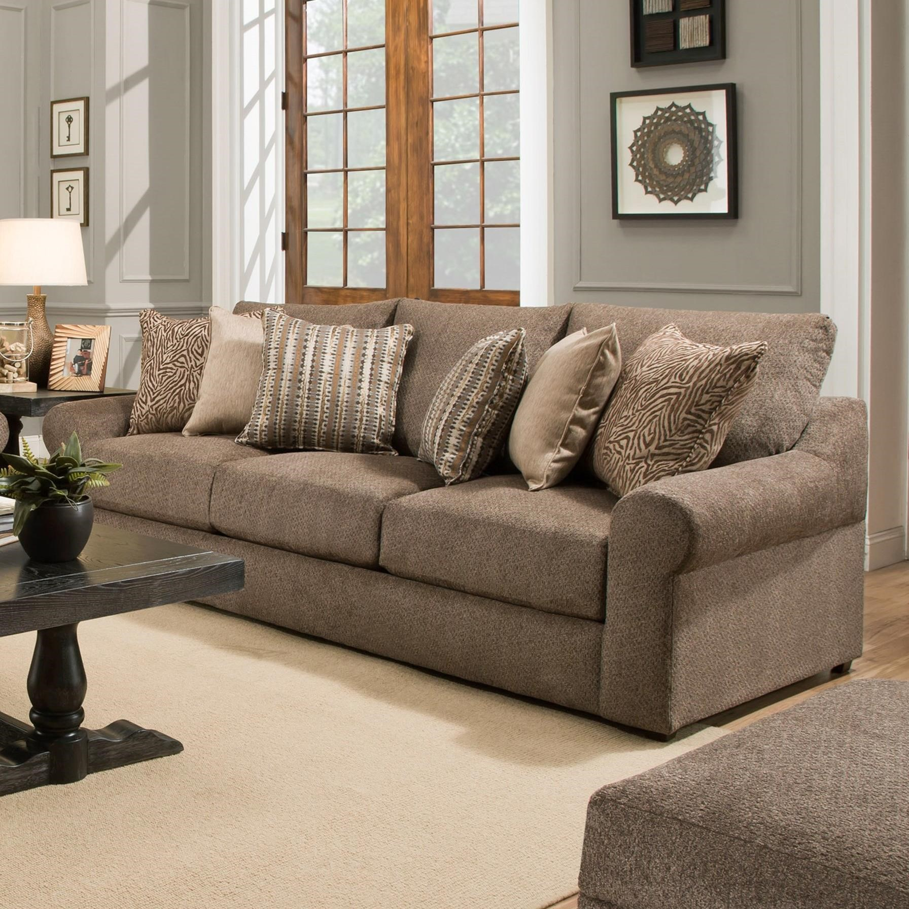 United Furniture Industries 9906 Sofa - Item Number: 9906BRSofa-Bellamy Cocoa