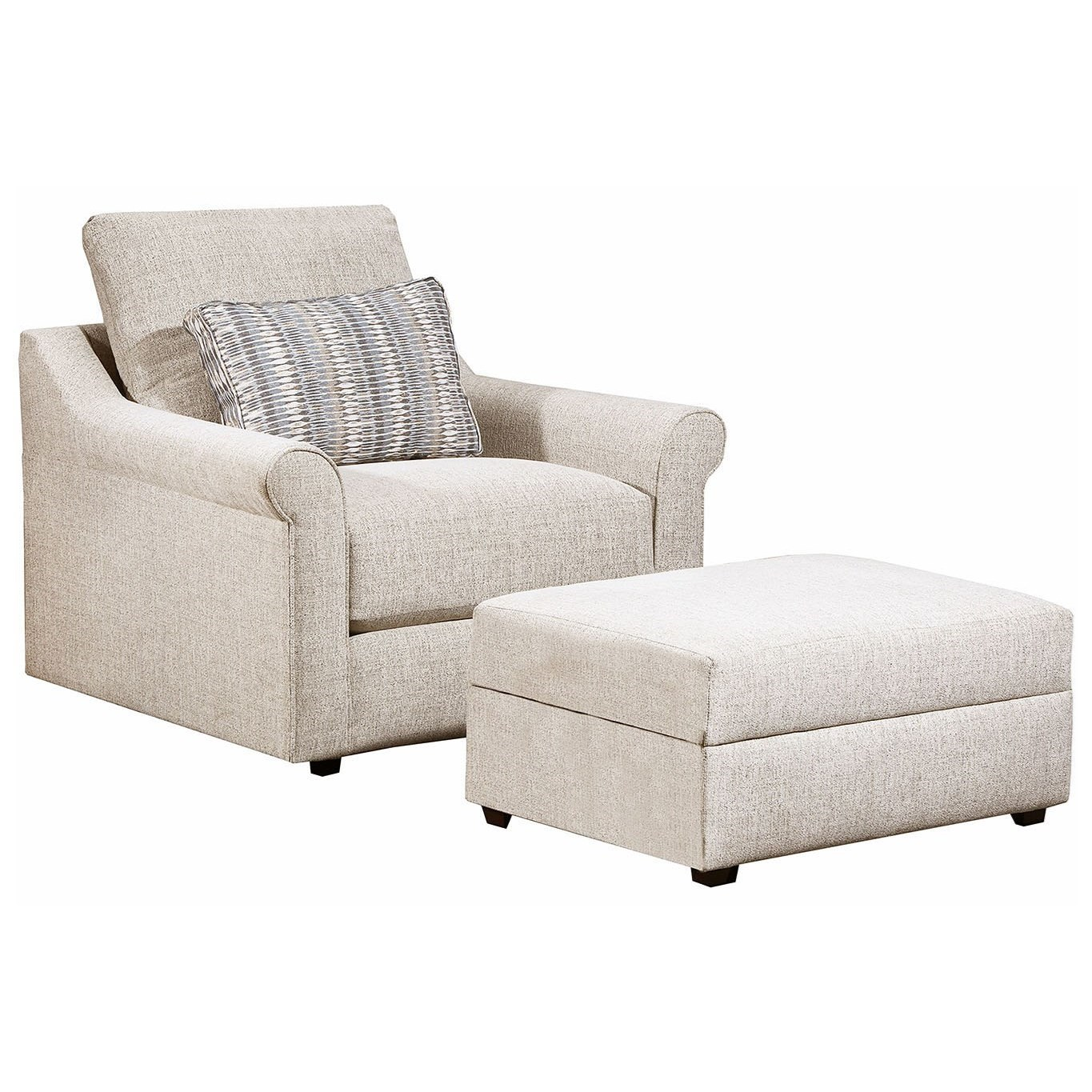 9910 Chair and Ottoman by United Furniture Industries at Dream Home Interiors