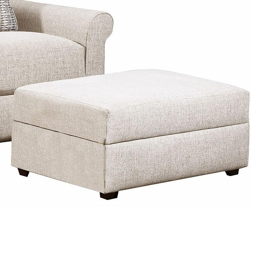 9910 Storage Ottoman by United Furniture Industries at Dream Home Interiors