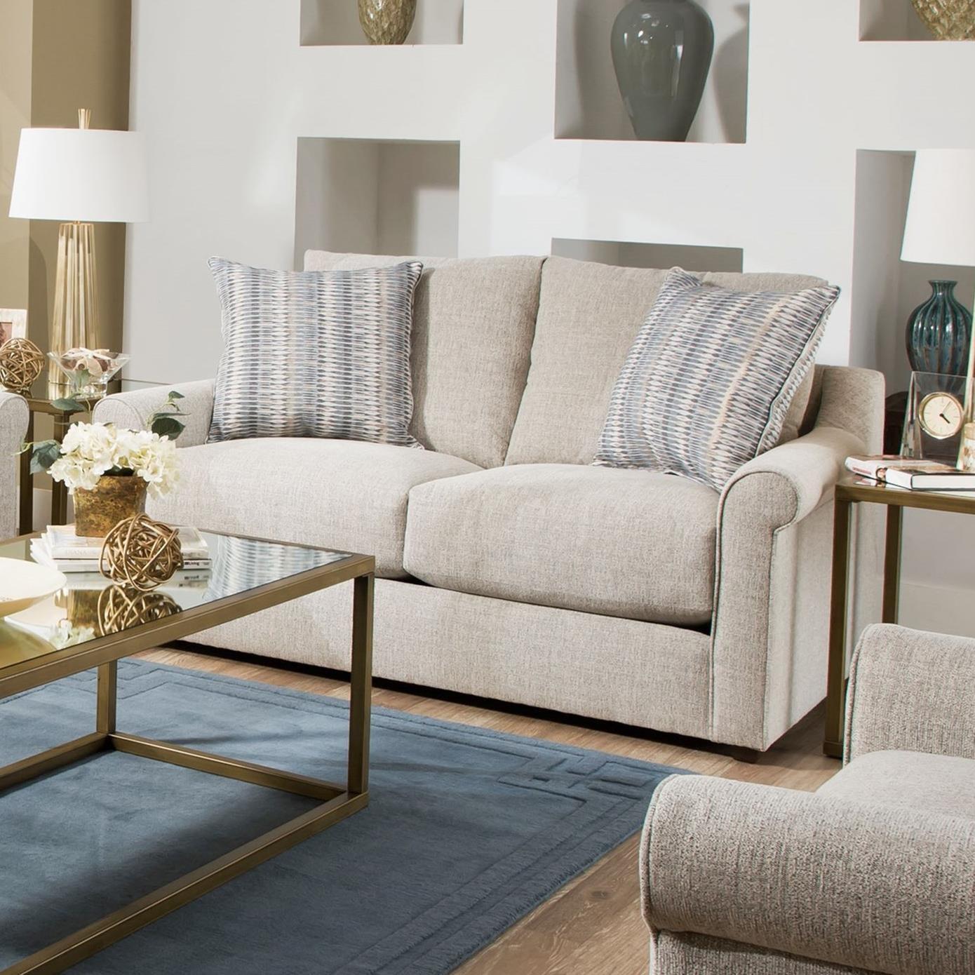United Furniture Industries 9910 Love Seat - Item Number: 9910BRLoveseat-Gypsy Peble