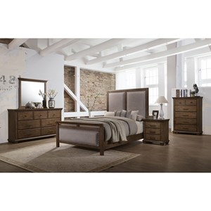 United Furniture Industries Carlton 1040 Queen Bedroom Group