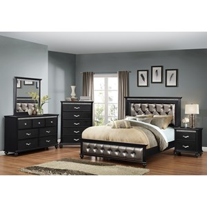 United Furniture Industries Hollywood 1007 Queen Bedroom Group