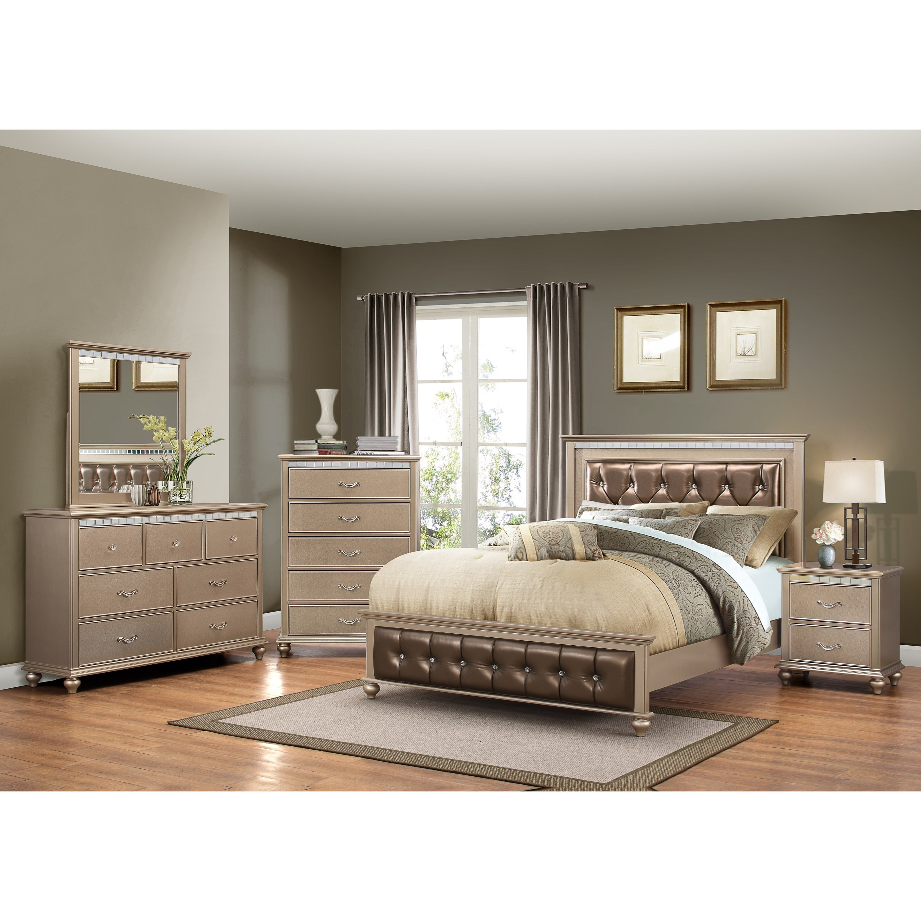United Furniture Industries Hollywood 1008 Queen Bedroom Group - Item Number: 1008 Q Bedroom Group 1