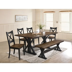 6-Piece Table, Chair and Bench Set