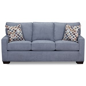 Casual Queen Sofa Sleeper with Track Arms