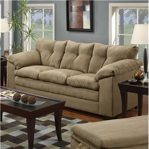 Simmons Upholstery 6565 Stationary Sofa