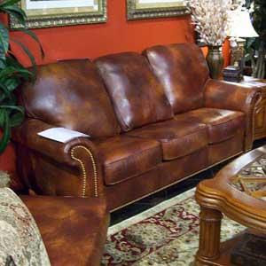 United Leather 16237 Leather Stationary Sofa