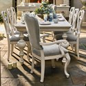 Universal Élan Traditional Dining Table and Chair Set - Item Number: 637-653+2x639-RTA+6x634-RTA