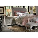 Universal Élan Transitional Queen Upholstered Bed with Nailhead Trim