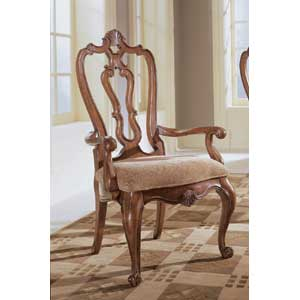 Universal Villa Cortina Carved Back Arm Chair