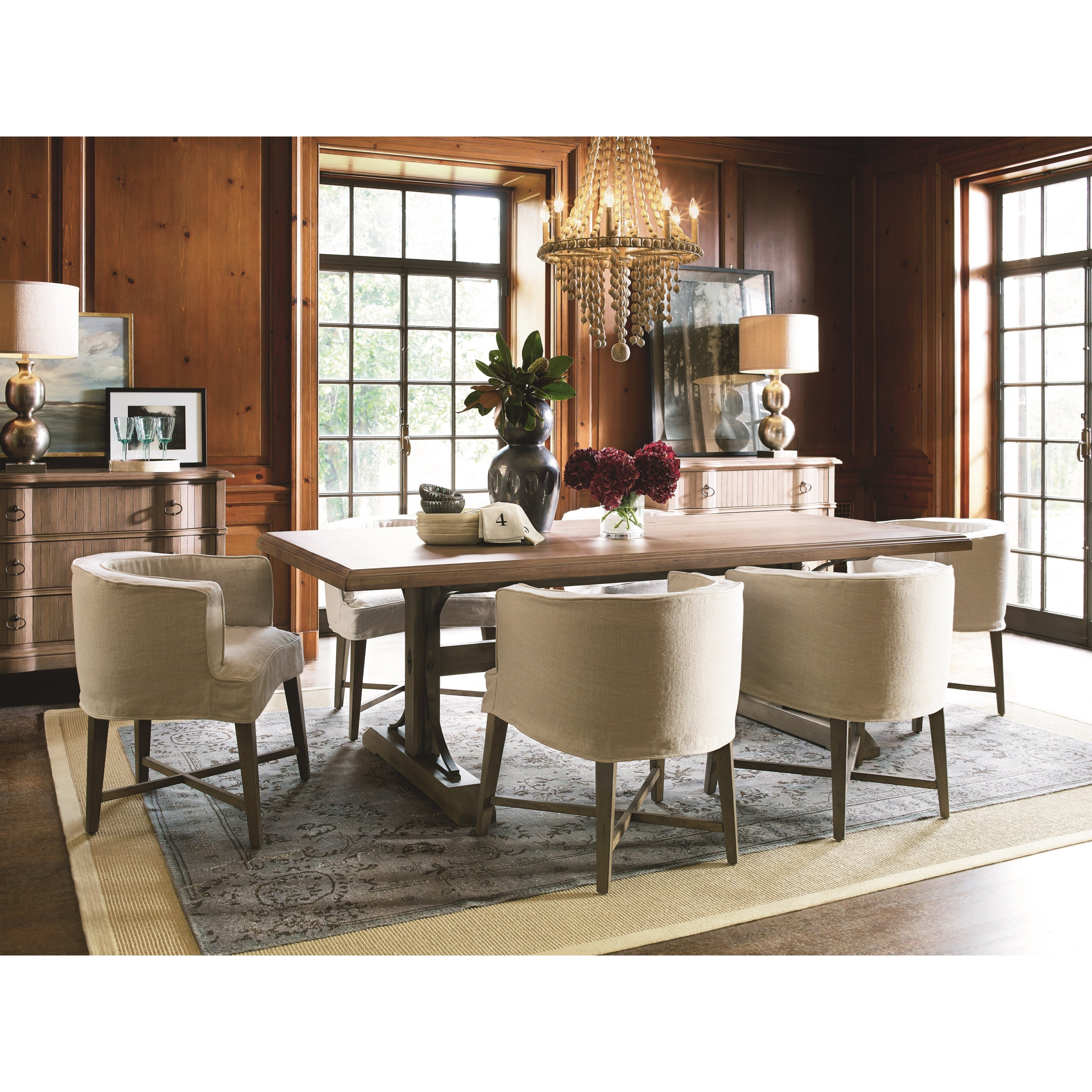 Universal Authenticity Formal Dining Room Group  - Item Number: 572 Dining Room Group 1