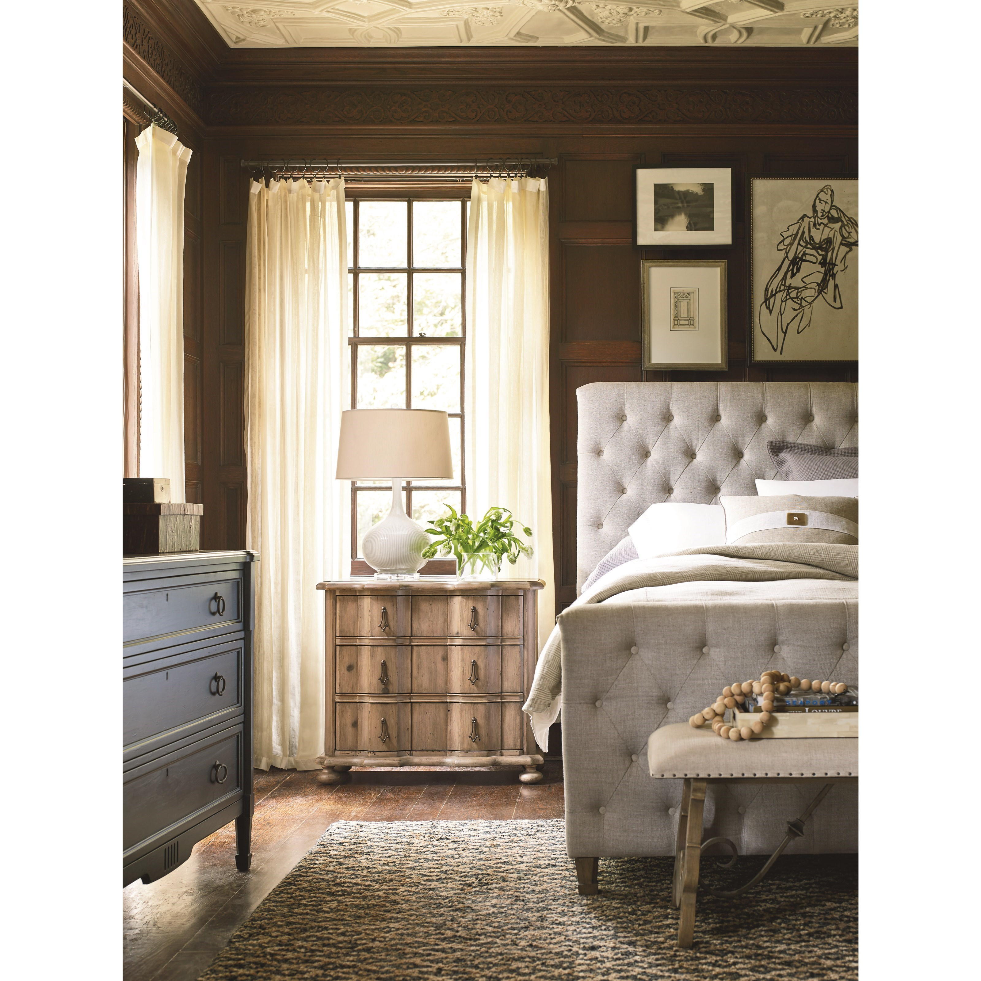 Universal Authenticity Queen Bedroom Group - Item Number: 572 Q Bedroom Group 3