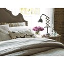 Universal Authenticity Queen Lyon Bed in Grey Cloud Velvet