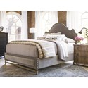 Universal Authenticity King Lyon Bed in Grey Cloud Velvet