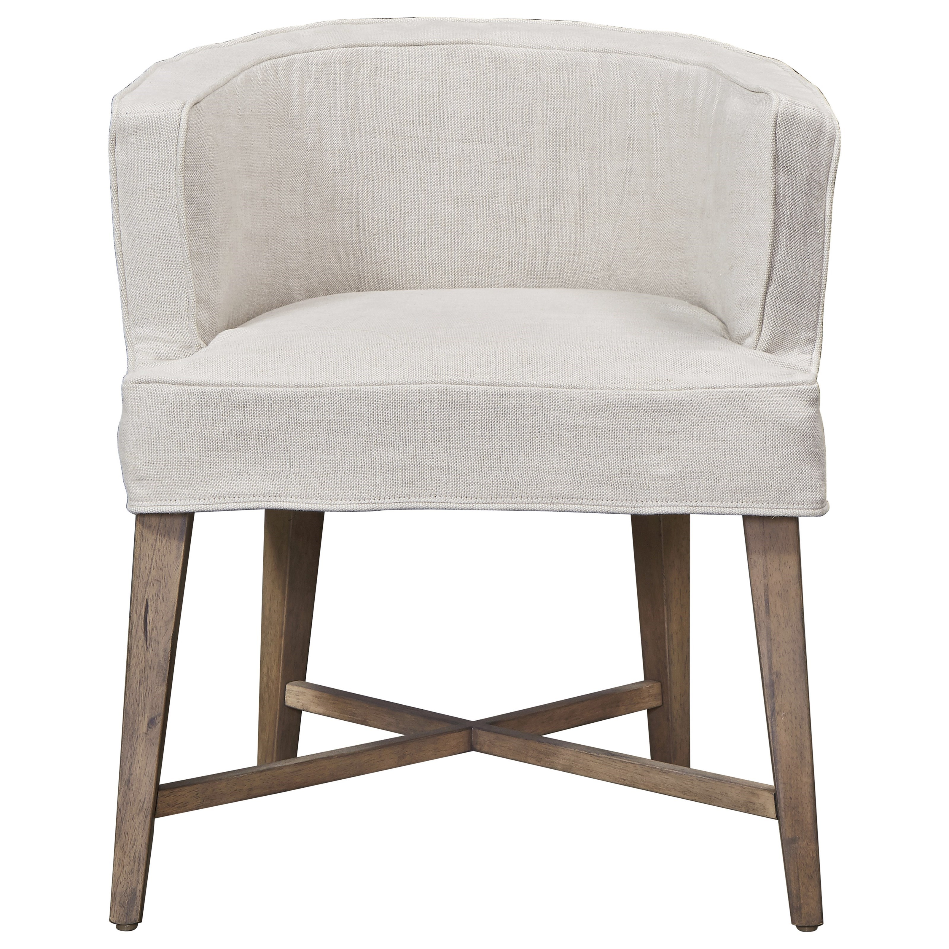Universal Authenticity Slip Covered Barrel Chair - Item Number: 572625-RTA