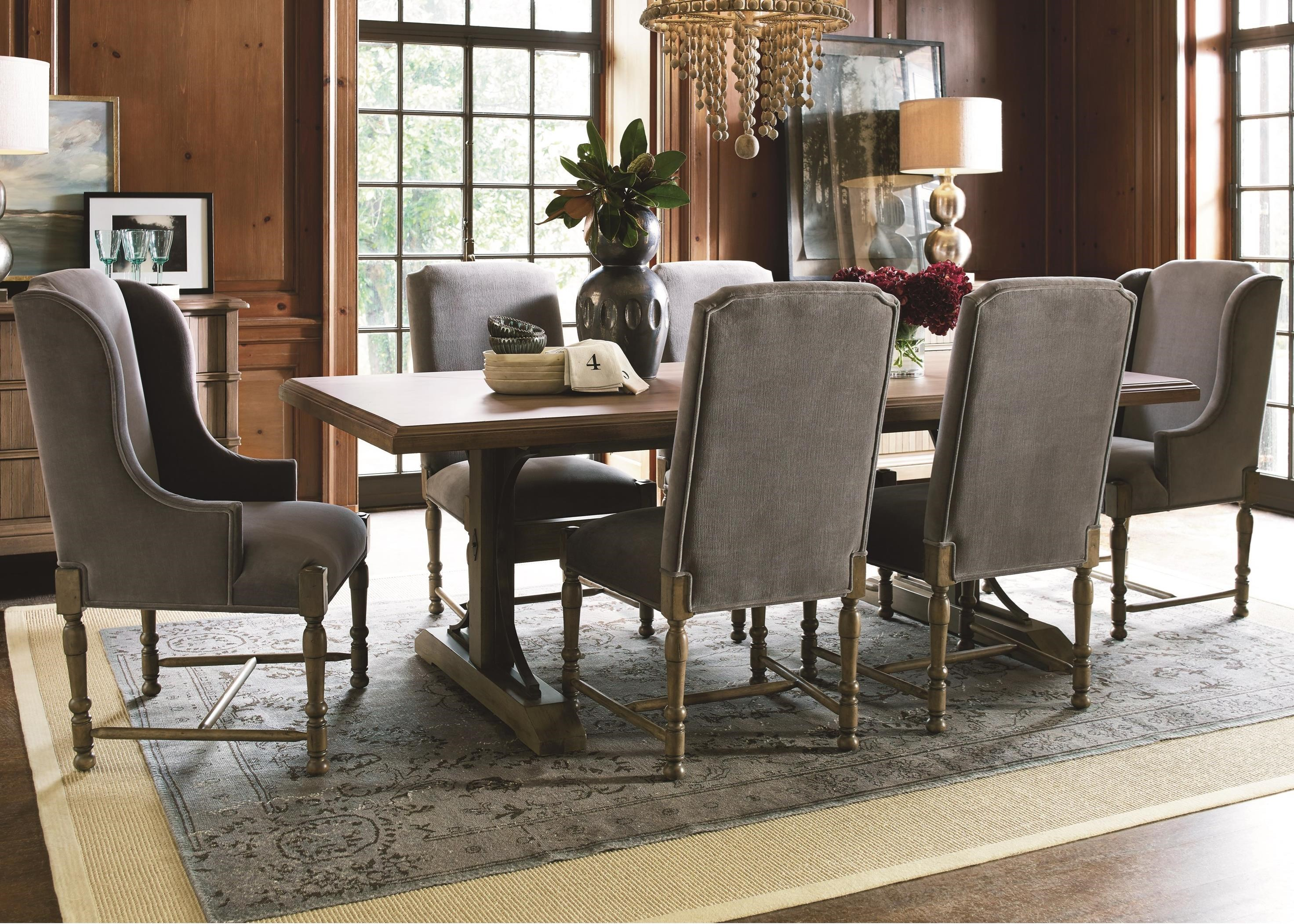 Universal Authenticity 7 Piece Table and Chair Set - Item Number: 572655+2x39-RTA+4x38-RTA