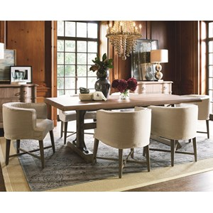 Universal Authenticity 7 Piece Table and Chair Set