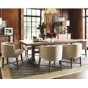 Universal Authenticity 7 Piece Table and Chair Set - Item Number: 572655+6x25-RTA