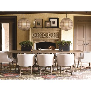 Universal Authenticity 9 Piece Table and Chair Set