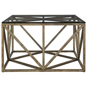 Universal Authenticity Truss Square Cocktail Table