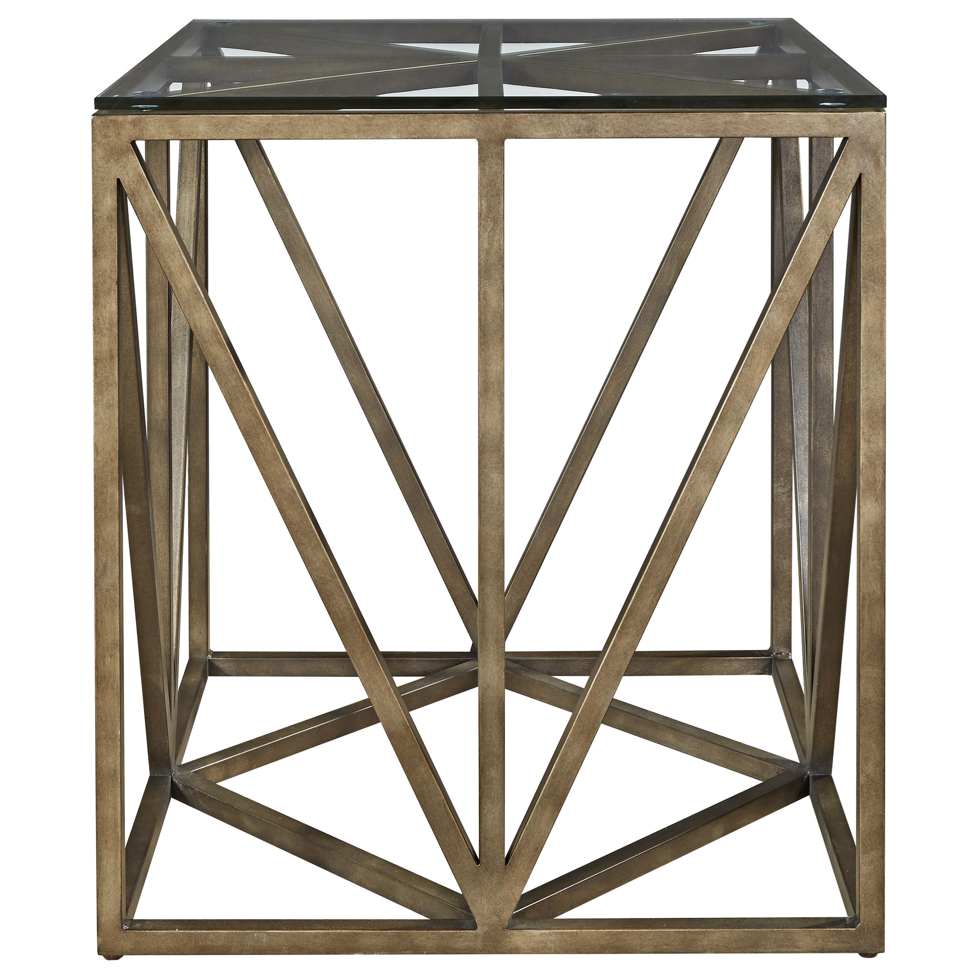 Universal Authenticity Truss Square End Table - Item Number: 572802