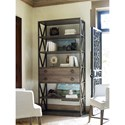 Universal Authenticity Etagere with Four Metal Framed Wood Shelves