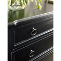 Universal Authenticity 3 Drawer Dressing Chest in Black Denim Finish