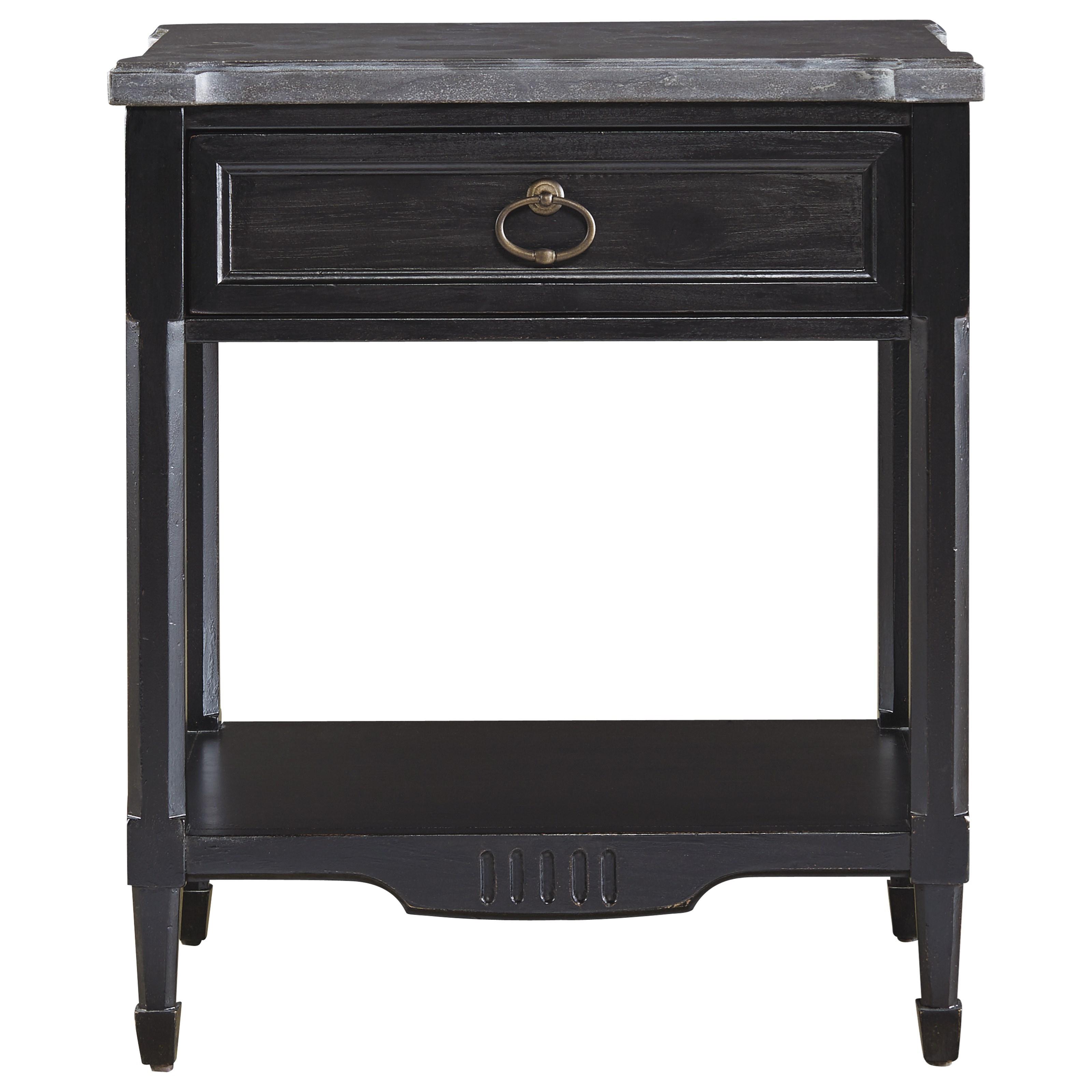 Morris Home Furnishings Gramercy Park Gramercy Park Bedside Table - Item Number: 572A355