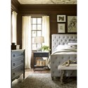 Universal Authenticity 1 Drawer Bedside Table with Bluestone Top