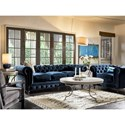 Morris Home Furnishings Berkeley Button-Tufted Chair with Nailhead Trim