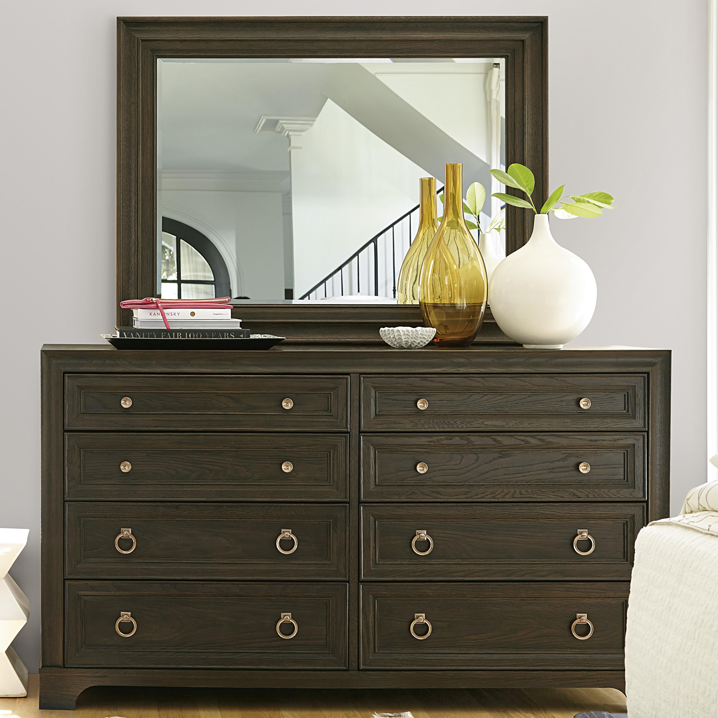 Universal California - Hollywood Hills Dresser and Mirror Set - Item Number: 475040+M