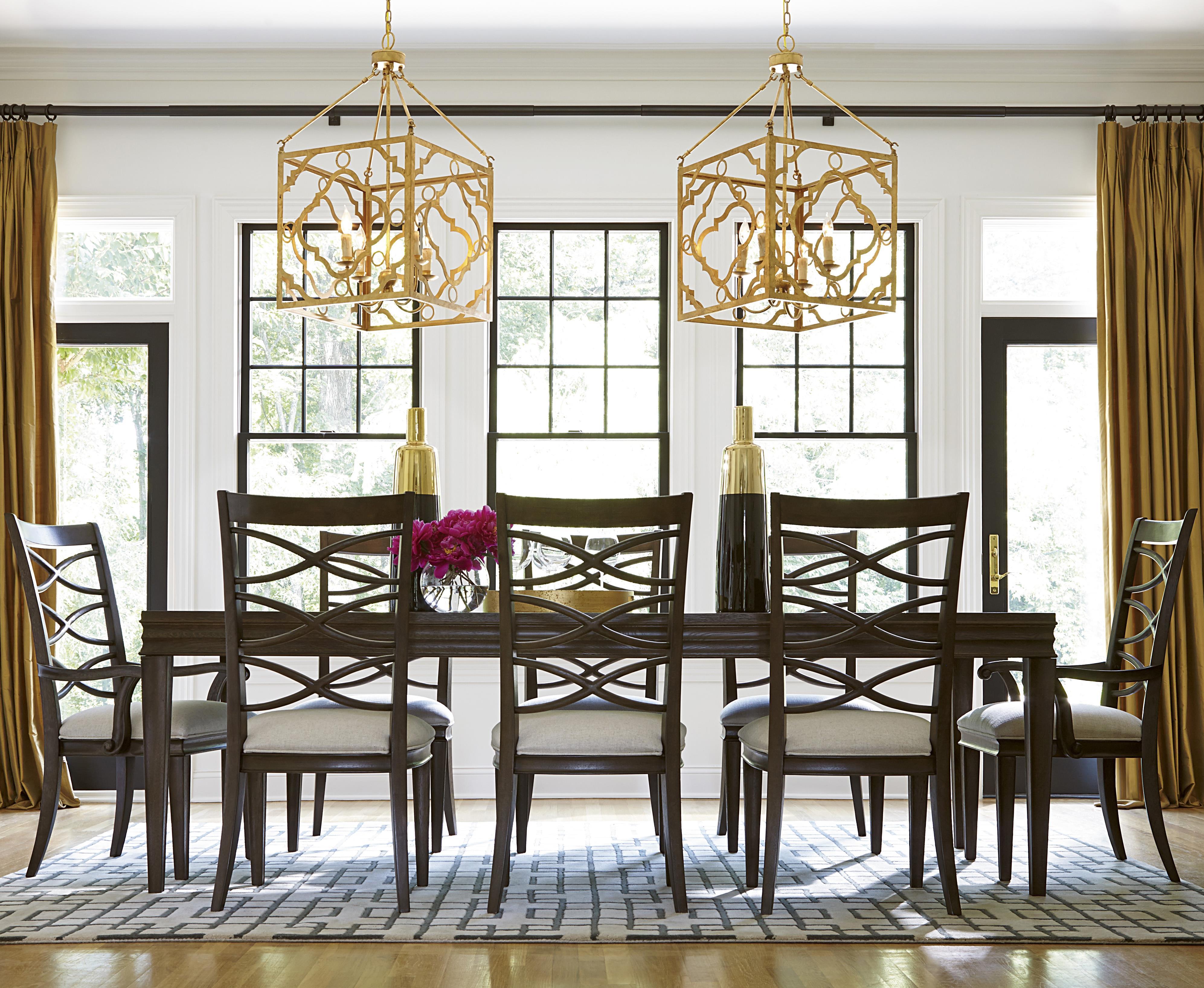 Universal California - Hollywood Hills 9 Piece Dining Set - Item Number: 475653+2x635-RTA+6x634-RTA