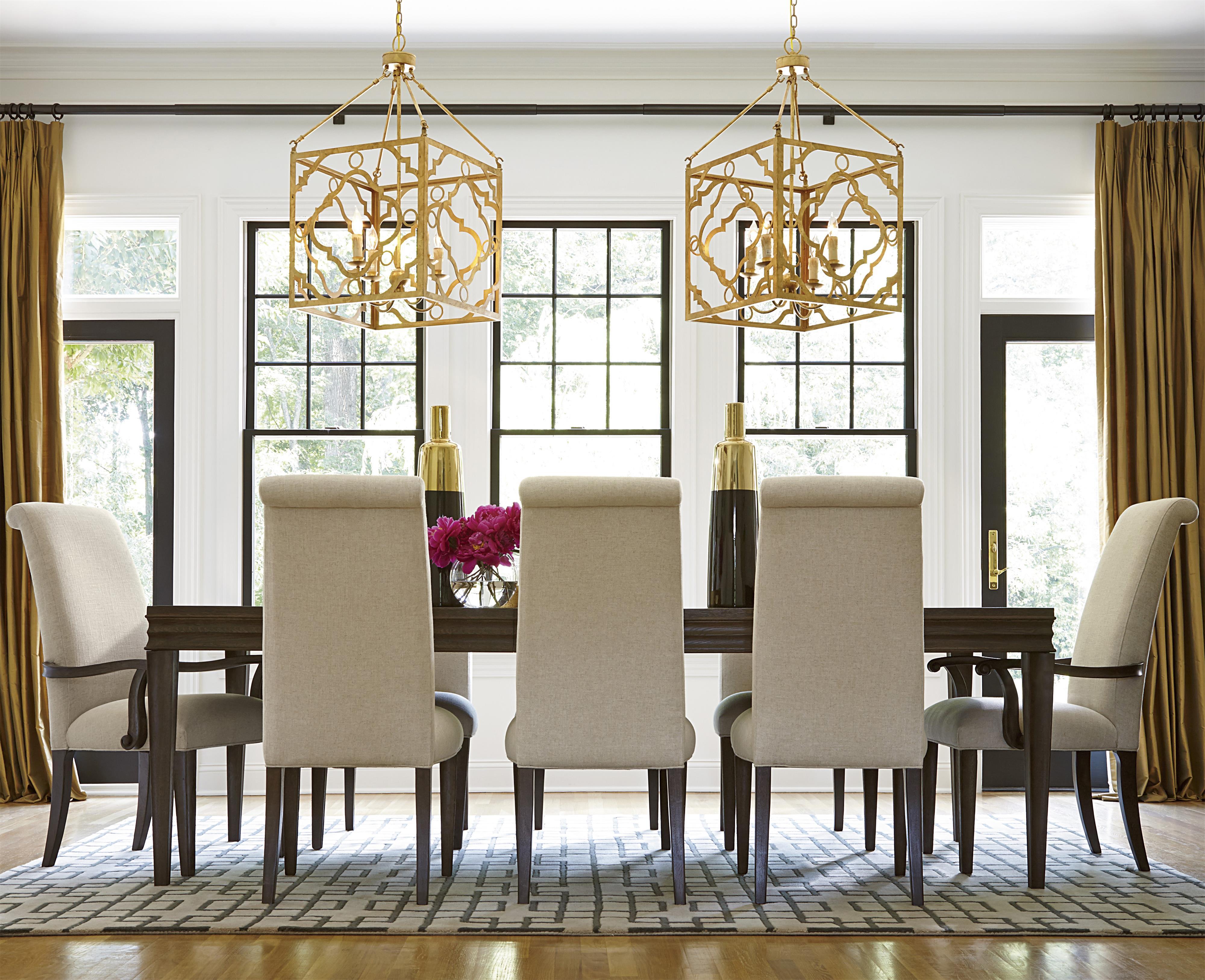 Universal California - Hollywood Hills 9 Piece Dining Set - Item Number: 475653+2x639-RTA+6x638-RTA