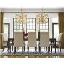 Morris Home Furnishings California - Hollywood Hills 9 Piece Dining Set - Item Number: 475653+2x639-RTA+6x638-RTA