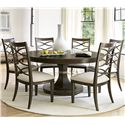 Morris Home Furnishings California - Hollywood Hills 7 Piece Dining Set - Item Number: 475657+6x634-RTA