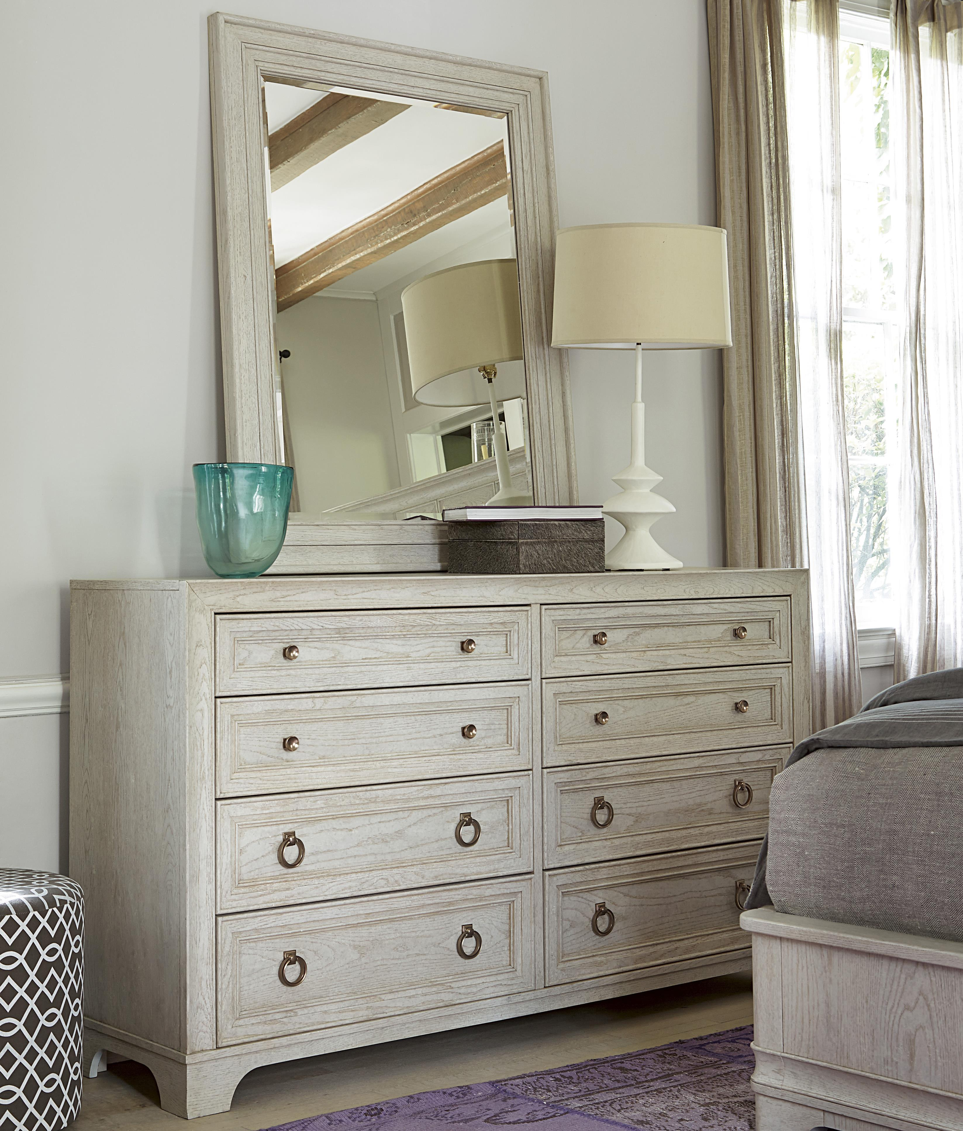 Universal California - Malibu Dresser and Mirror Set - Item Number: 476040+M
