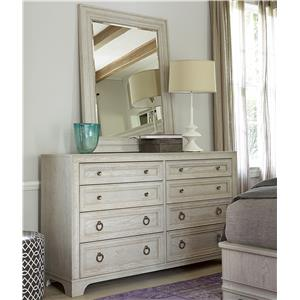 Universal California - Malibu Dresser and Mirror Set