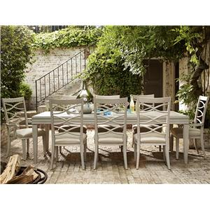 Universal California - Malibu 9 Piece Dining Set