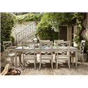 Universal California - Malibu 9 Piece Dining Set with X-Back Side Chairs