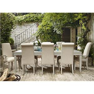 OCONNOR DESIGNS California - Malibu 9 Piece Dining Set