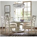Morris Home Furnishings California - Malibu 7 Piece Dining Set with Round Table and X-Back Chairs