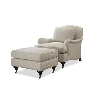 Morris Home Churchill Chair and Ottoman Set