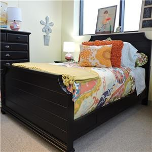 Universal Clearance Black Panel Bed