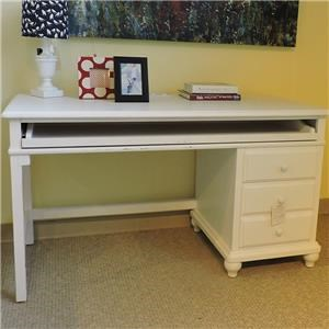 Universal Clearance White Single Ped Desk