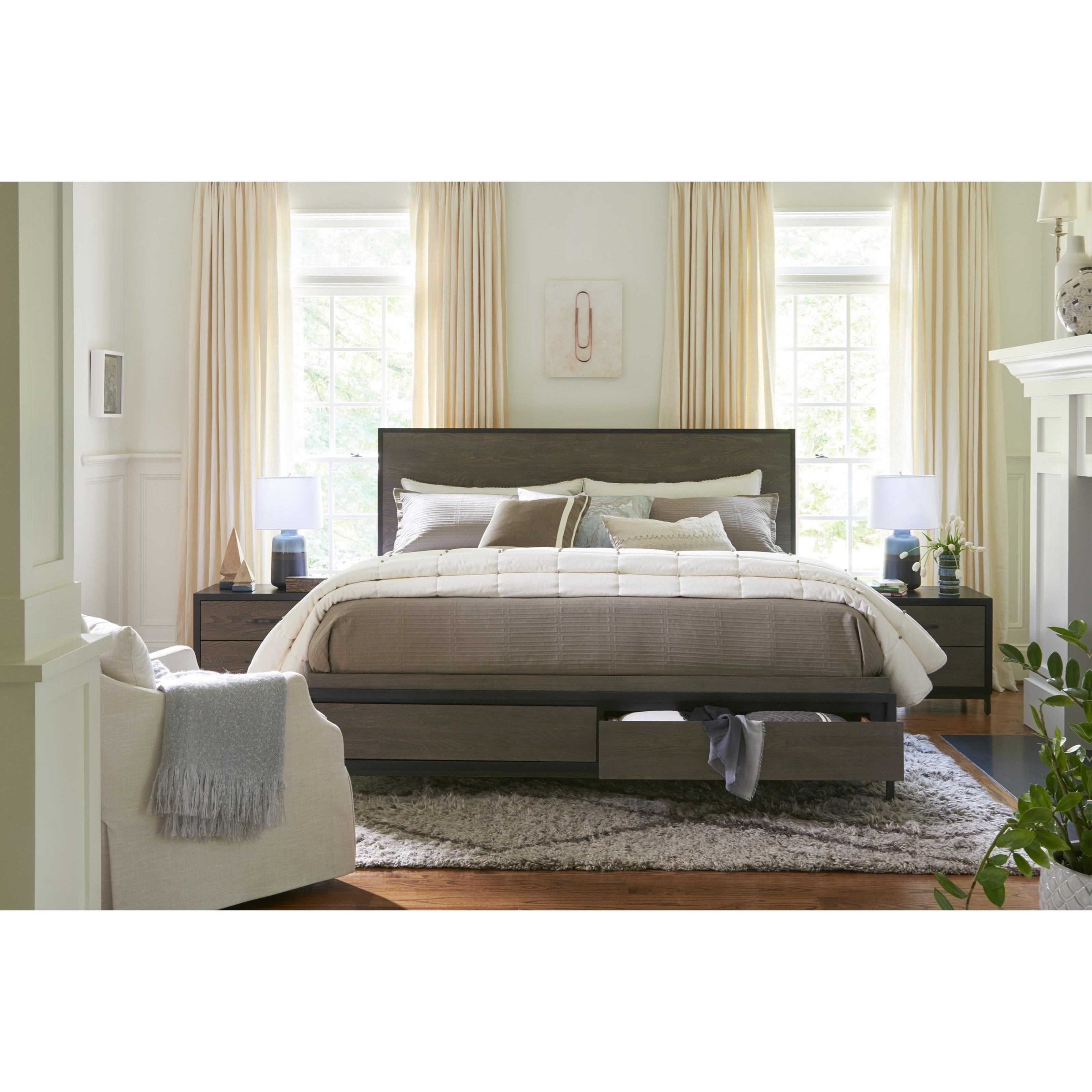 Universal Curated Spencer Queen Storage Bed With 2 Drawers