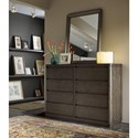 Morris Home Furnishings Curated Roxbury Drawer Dresser with Drop-Front Drawer